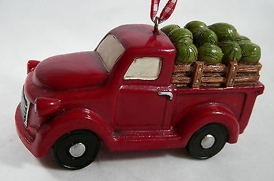 Red Truck Full of Watermelons Christmas Tree Ornament new holiday