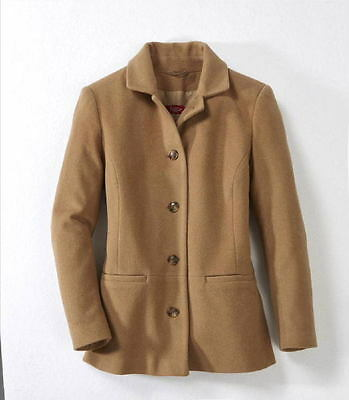 Jacke Kaschmir / Woll Winter Damen Trench Warm Mantel Winterjack camel Gr.42