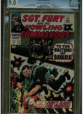 Sgt. Fury And His Howling Commandos #53 Cgc 9.0 Full Ad Submariner & Iron Man #1