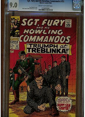 Sgt. Fury And His Howling Commandos #52 Cgc 9.0 Cream To Off White Pages Ayers