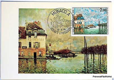 Yt 972 ALFRED SISLEY PONT MARLY     CARTE MAXIMUM 1° JOUR FCP