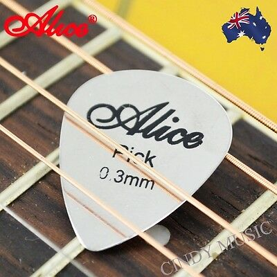 Metal Musical Guitar Pick Bass Ukelele Guitar Picks 0.3mm NEW
