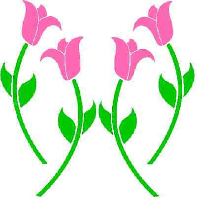 30 Custom Pink Tulips Personalized Address Labels