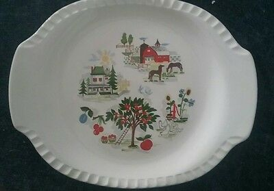 Harmony House Farmer In The Dell Oval Platter Fluted Edge