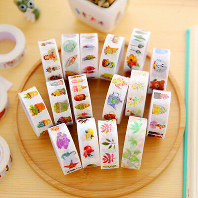New 1Roll DIY Paper Sticky Adhesive Sticker Photo Diary Adhesive Decorative Tape