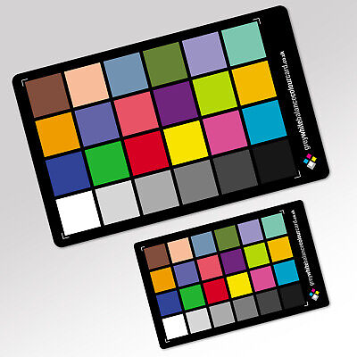 2 in 1 Grey White Balance Colour Card COMBO: The 6x4 and two 3x2 Cards
