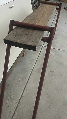 Vintage Industrial bench TV table/stand display shelf hall sideboard workbench