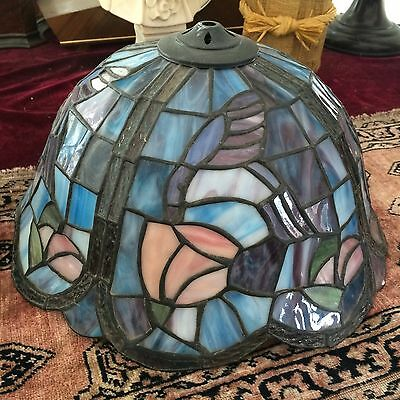 Old Vintage Tiffany Style Stained Glass Lamp Shade