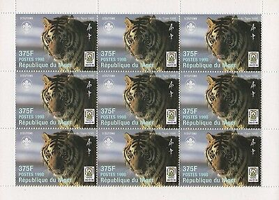 Chinese Horoscope Year Of The Tiger 1998 Mnh Stamp Sheetlet