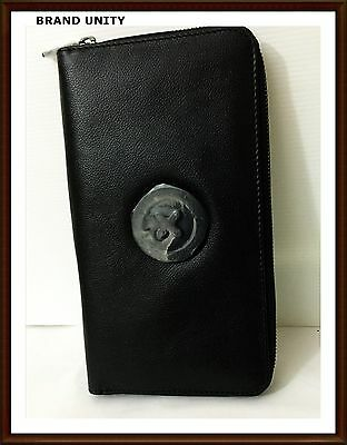 Mimco Leather Large SUPERNATURAL Travel Wallet Clutch Purse BNWT Black