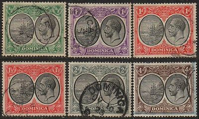 DOMINICA 1923 Part set to 4d used
