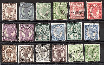 Australia QV Australian States unchecked collection JB13