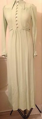 Ossie Clark Vintage Crepe Pale Green Dress