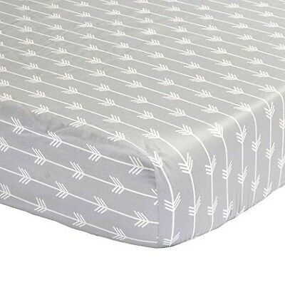 The Peanut Shell Arrows Fitted Cot Sheet