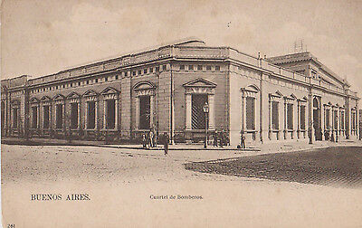 BUENOS AIRES FIRE STATION VERY EARLY POSTCARD c1920