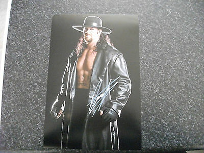 The Undertaker Autograph 12X8 With Coa