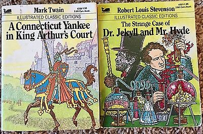 2 Illustrated Classic Editions Dr. Jekyll and Mr. Hyde &  Connecticut Yankee