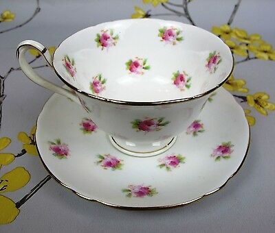 Antique THE FOLEY CHINA / Shelley / Wileman CUP & SAUCER. Pink Roses. c1894-1910