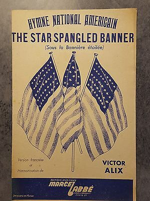 Partition ancienne Hymnes américains The star spangled banner - vers 1944
