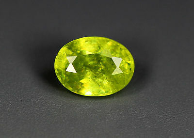 0.52 Cts_Simmering Ultra Nice Color Gemstone_100 % Natural Green Sphene