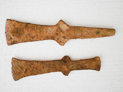 Two ANCIENT RARE Authentic Iron AXES Early Iron Age