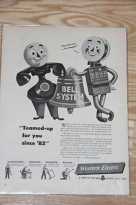 Vintage Western Electric (Bell Telephone Sys) Advertising 1942