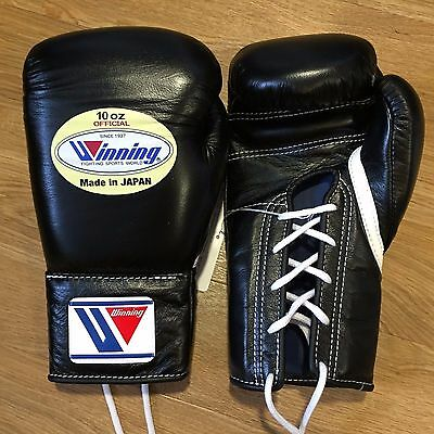 WINNING MS-300 10oz BLACK - Professional Sparring/Training Gloves - Grants Reyes