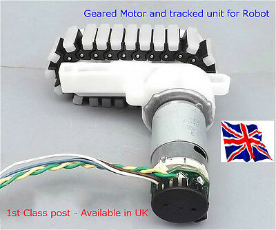 Tracked Robotic Geared Motor with Opto Encoder - in UK - Arduino Raspberry Pi