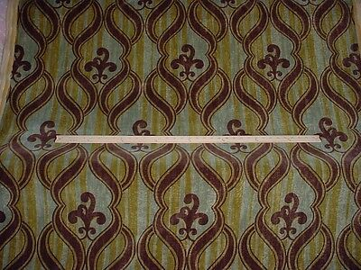 16y DECADENT ALTIZER RUBINOT SCROLL ITALIAN VELVET UPHOLSTERY FABRIC