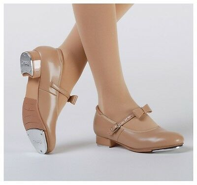 New Girls Dance Shoes Black Tan Tap Shoes with Buckle Strap PU Tap Shoe Tapper