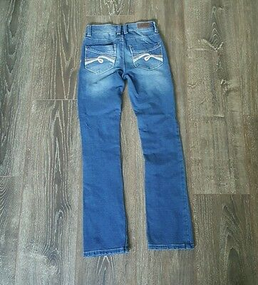 Justice Girls Bootcut Jeggings Knit Stretch Blue Jean Pants Size 10S Slim