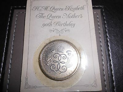 Queen Mothers 90th birthday royal mint £5.00.Sealed.