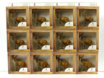 Royal Darwin Wildlife White Tailed Deer Figurine Collectible 101 Lot Of 12