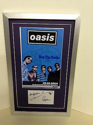 Oasis Genuine Hand Signed/Autographed Card with a Photo and COA