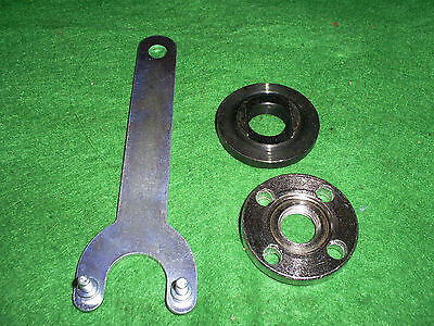 """4. 1 / 2"""".. 115 Mm.. Angle Grinder Spare Spacer And Locknut With Key ."""
