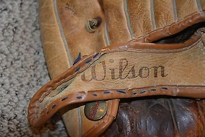 Vintage Wilson Jim Piersall Pro Style  Button Back Picture Pocket Baseball Glove