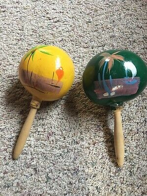 Hand Painted Colorful Morocco's Rattle Shakers