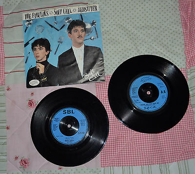 """2 x Discs The Fabulous Soft Cell - Bedsitter & Tainted Love   45rpm 7"""" Vinyl"""