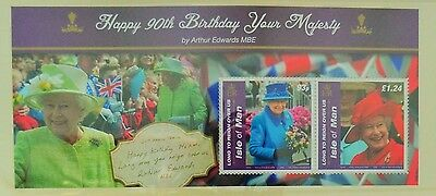 Special Ed. Commemorative Stamps Isle of Man Happy 90th Birthday Your Majesty