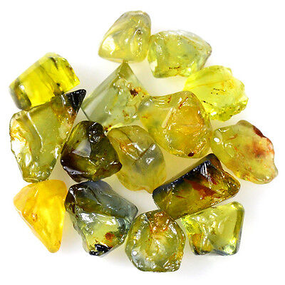 UNHEATED! 15pcs, 15.15ct NATURAL100% UNHEATED YELLOW SAPPHIRE ROUGH SPECIMEN NR!