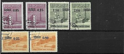 Albania 1965 currency revaluation set used