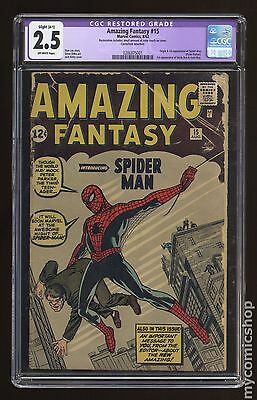 Amazing Fantasy (1962) #15 CGC 2.5 RESTORED (0286875001)