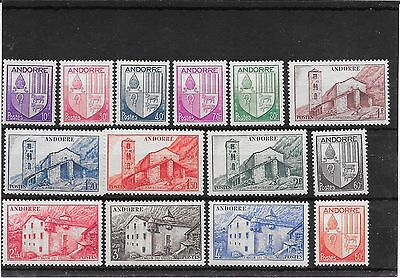 French Andorra 1944 issues to 4 Fr mnh
