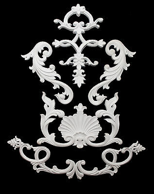 Ornate Moulding Wall Panelling Large French Mirror Resin White Decorative Design