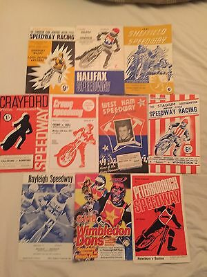 10  x  SPEEDWAY  COLLECTABLE   PROGRAMMES
