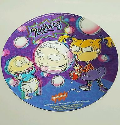 """Nickelodeon Rugrats 1997 8"""" 3D Lenticular Computer Mouse Pad Vintage Cartoon 90s"""