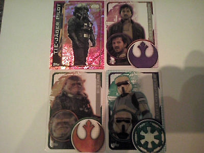 Star Wars Rogue One Trading Cards 182,201,202,194