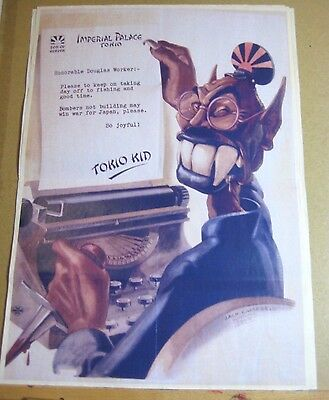 "WW2 Era  US War Effort Poster Great Condition!  ""Tokio Kid Says"""
