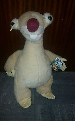 "ice age sid plush toy ice age 3 dawn of the dinosaur ""16"" with tag"