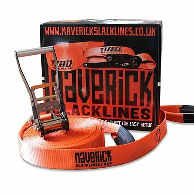 Maverick Slackline- 25m Slackline and Anleitung DVD (optional)